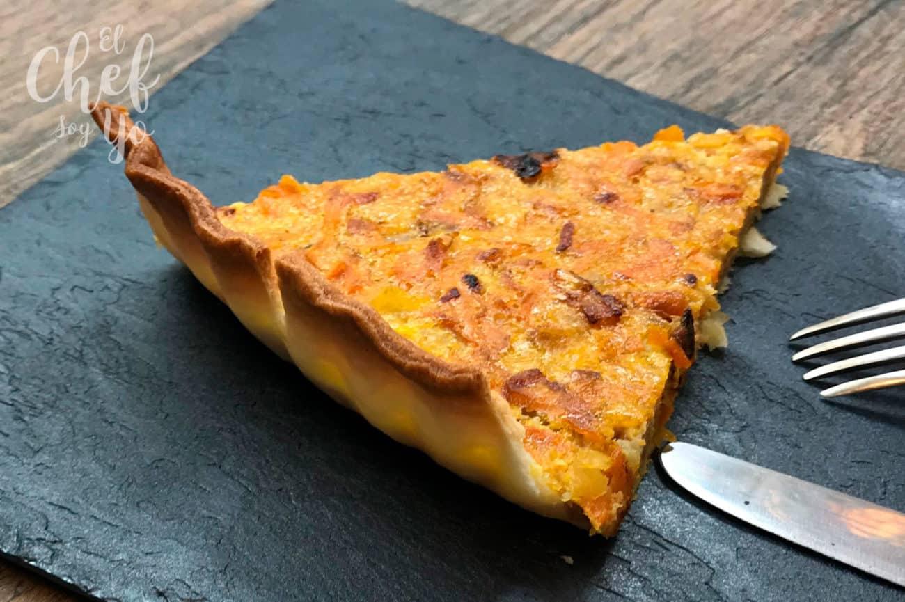 Tarta de zanahoria y cebolla