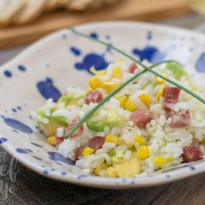 Ensalada de arroz con aguacate