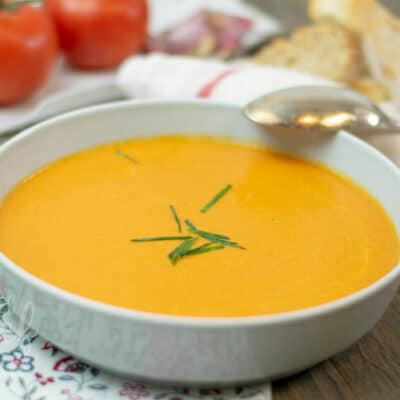 Sopa de tomate estilo Cajún