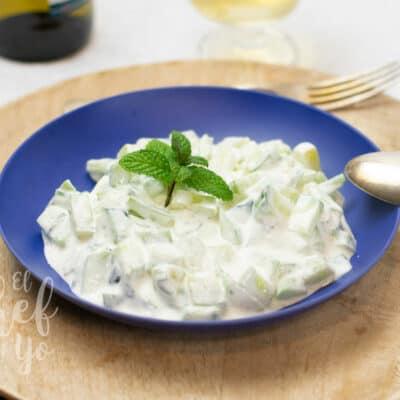 Ensalada de yogur y pepino