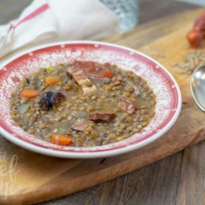 Lentejas estofadas (Crockpot)