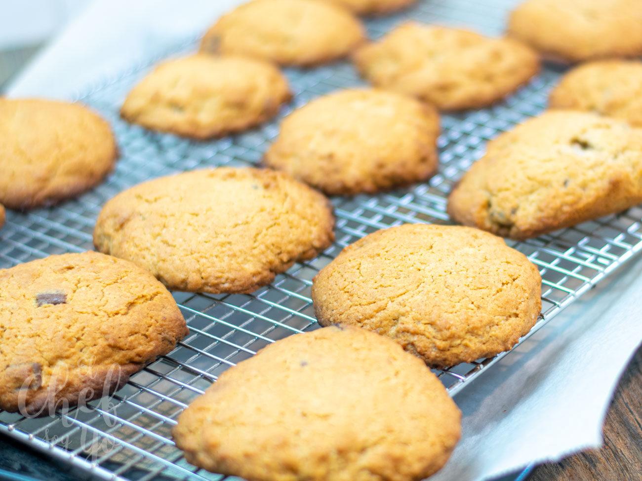 Cookies caseras con pepitas de chocolate