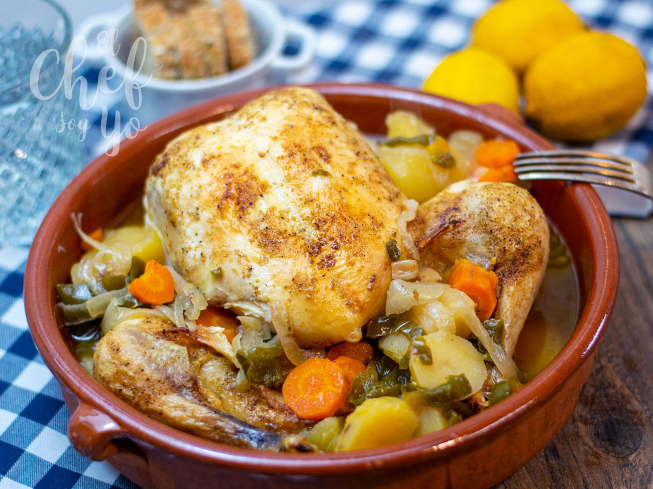 Pollo asado estilo cajún (Crockpot)