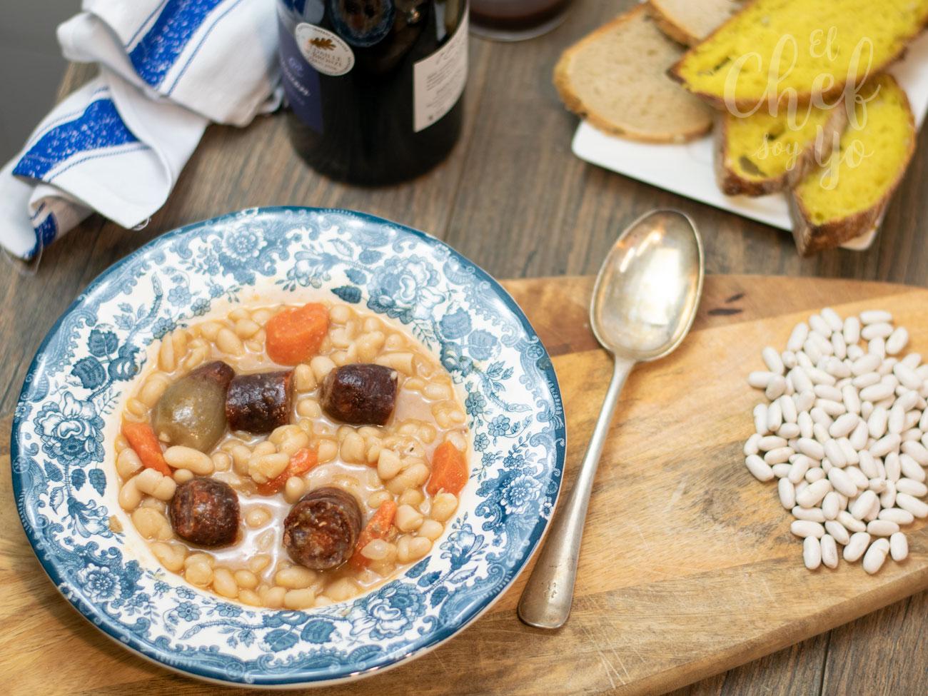 Alubias con chorizo (Crockpot)