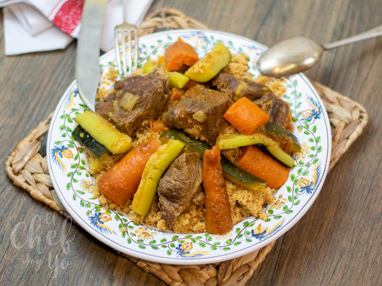 Cous cous al estilo marroquí con Tajine de cordero