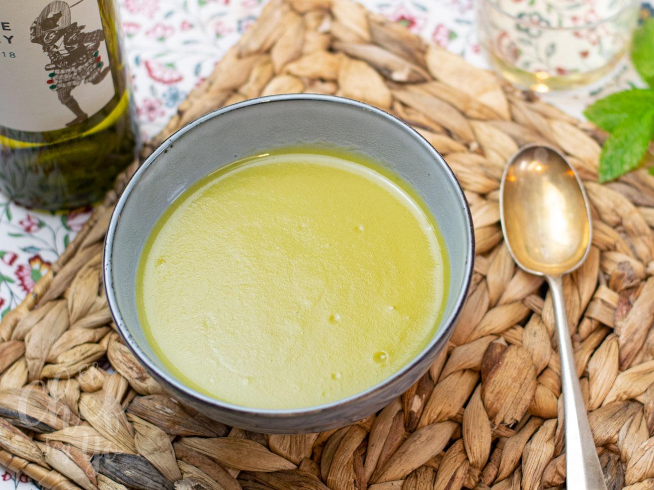 Crema de puerros y espárragos (Thermomix)
