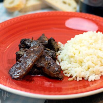 Carne asada a la soja