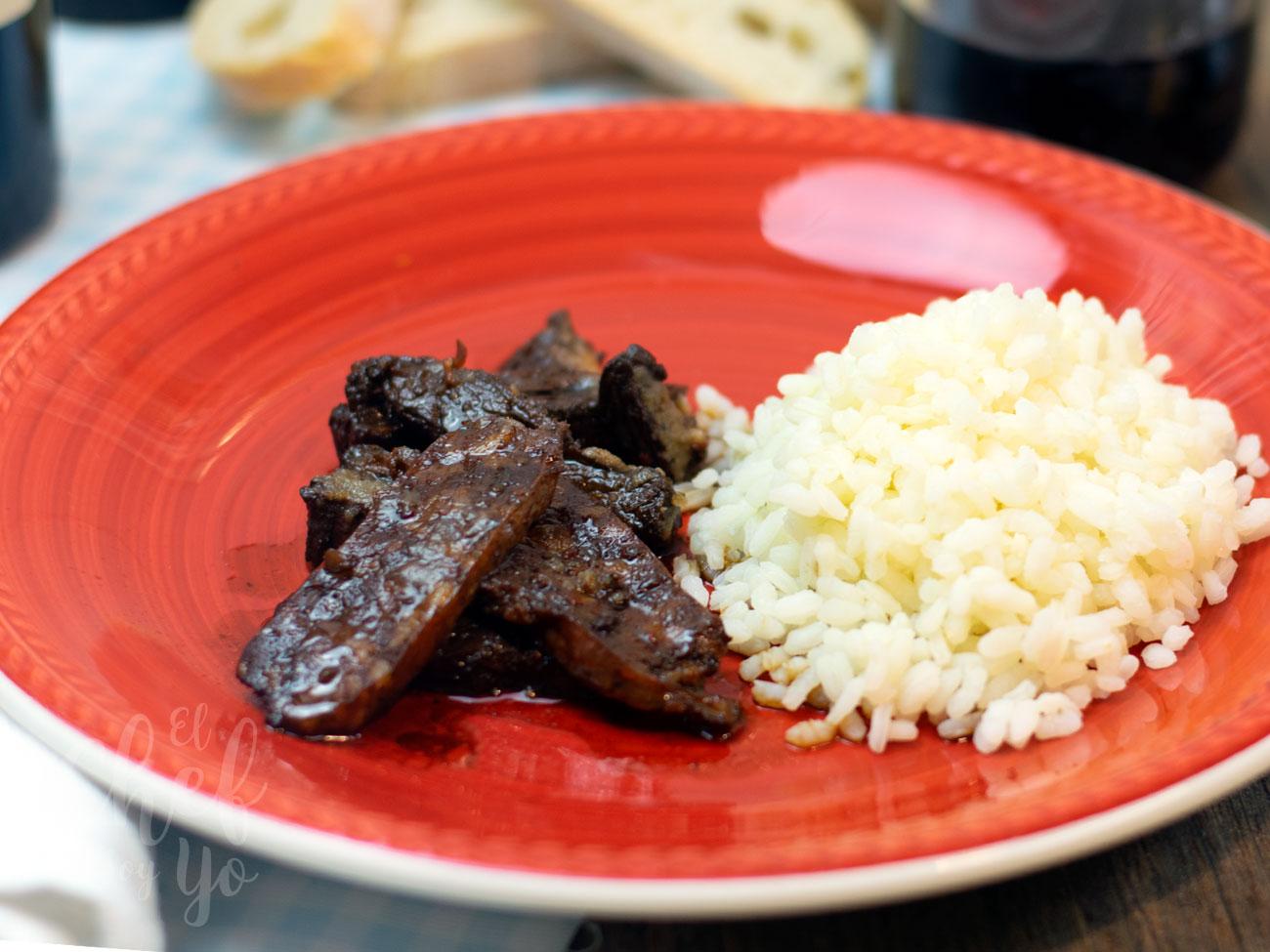 Carne de asado a la soja