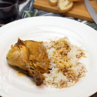 Pollo al ajo negro