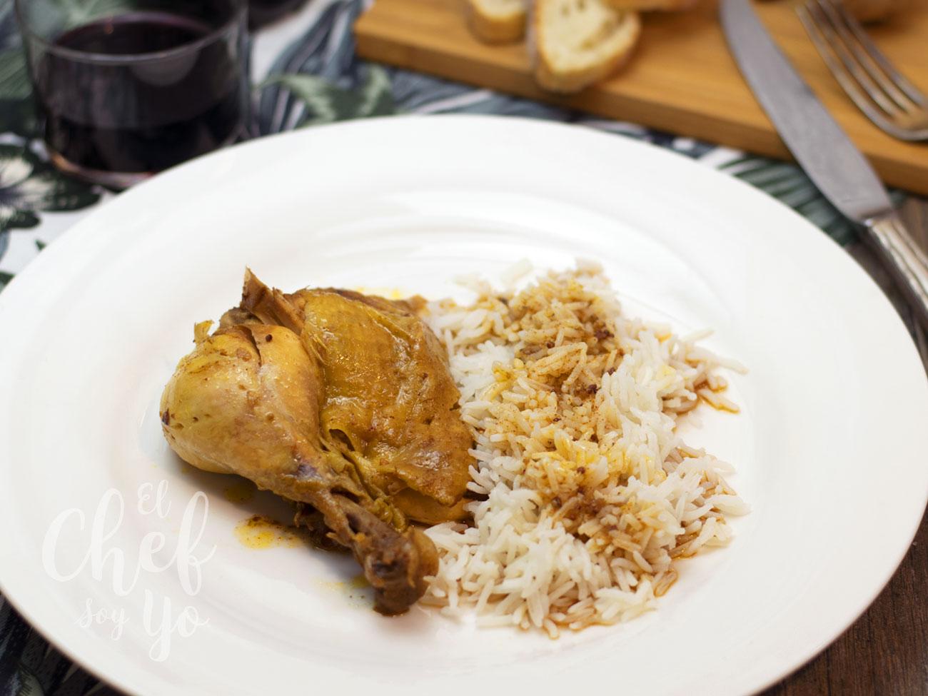 Pollo asado al ajo negro (Olla lenta)